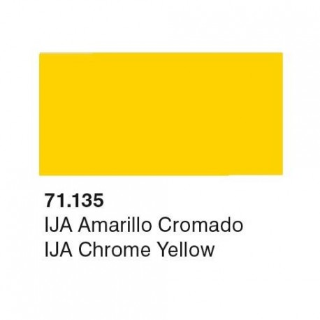 Acrilico Model Air IJA Amarillo Cromado. Bote 17 ml. Marca Vallejo. Ref: 71.135.