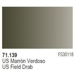 Acrilico Model Air US Marron Verdoso. Bote 17 ml. Marca Vallejo. Ref: 71.139.