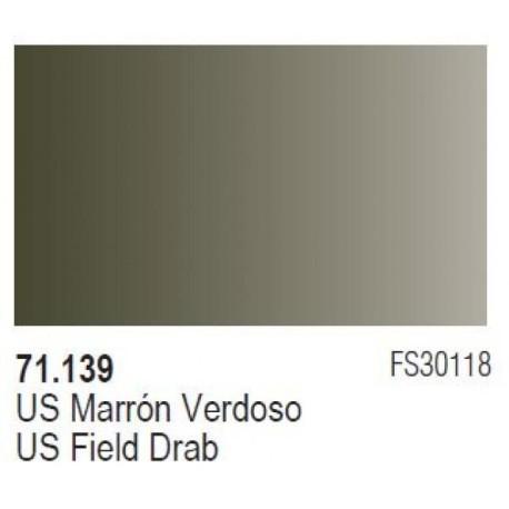 Acrilico Model Air US Marron Verdoso. Bote 17 ml. Marca Vallejo. Ref: 71.139