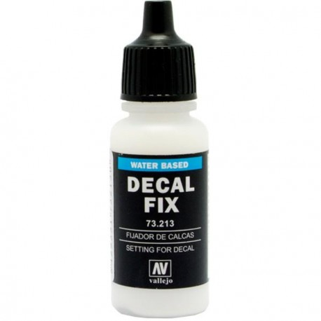 Fijador de Calcas, Decal fix. Bote 17 ml. Marca Vallejo. Ref: 73.213.