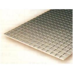 Plancha pavimentos 1.00 profundidad y 12.70 x 12.70 cuadrado, 15 x 30 mm. De Estireno. Marca Evergreen. Ref: 4518.