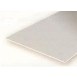 Planchas lisas, 0.13 mm , 15 x 30 cm. De Estireno. 3 unidades. Marca Evergreen. Ref: 9009.
