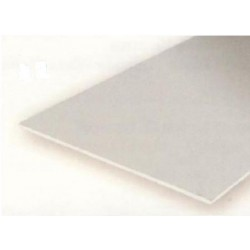 Plancha transparente Azul, 0.25 mm , 15 x 30 cm. De Estireno. 2 unidades. Marca Evergreen. Ref: 9902.