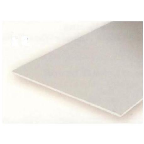 Planchas transparentes varios colores, 0.25 mm , 15 x 30 cm. De Estireno. 5 unidades. Marca Evergreen. Ref: 9905.