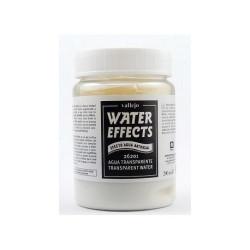 Agua Transparente. Bote 200 ml. Marca Vallejo. Ref: 26.201.