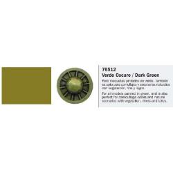 Model Wash, Lavado Verde Oscuro. Bote 35 ml. Marca Vallejo. Ref: 76.512.