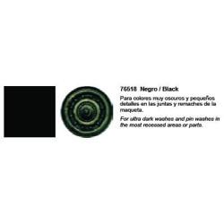 Model Wash, Lavado Negro. Bote 35 ml. Marca Vallejo. Ref: 76.518.