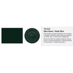 Model Wash, Lavado Verde Oliva. Bote 35 ml. Marca Vallejo. Ref: 76.519.