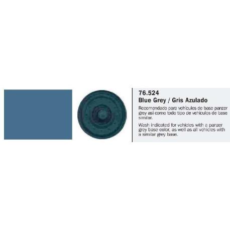 Model Wash, Lavado Gris Azulado. Bote 35 ml. Marca Vallejo. Ref: 76.524.