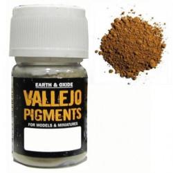 Pigmento Ocre amarillo Claro. Bote 30 ml. Marca Vallejo. Ref: 73.102.