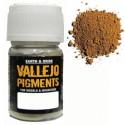 Pigmento Ocre Amarillo Oscuro. Bote 30 ml. Marca Vallejo. Ref: 73.103.