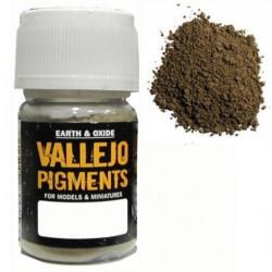 Pigmento Siena Claro. Bote 30 ml. Marca Vallejo. Ref: 73.104.