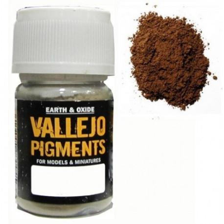 Pigmento Siena Natural. Bote 30 ml. Marca Vallejo. Ref: 73.105.
