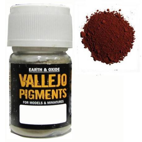 Pigmento Siena Calcinado. Bote 30 ml. Marca Vallejo. Ref: 73.106.