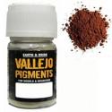 Pigmento Ocre Rojo Oscuro. Bote 30 ml. Marca Vallejo. Ref: 73.107.