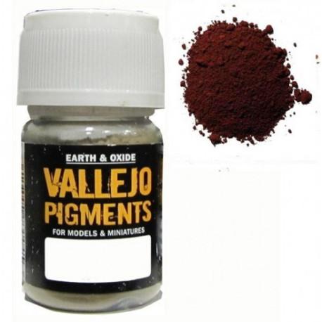 Pigmento Marron  Oxido de Hierro. Bote 30 ml. Marca Vallejo. Ref: 73.108.
