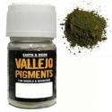 Pigmento Verde Oxido de Cromo. Bote 30 ml. Marca Vallejo. Ref: 73.112.