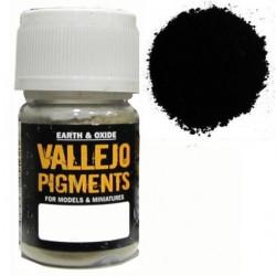 Pigmento Negro Oxido Natural. Bote 30 ml. Marca Vallejo. Ref: 73.115.