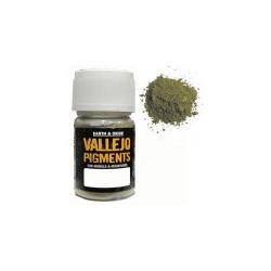 Pigmento Verde Oliva desgastado. Bote 30 ml. Marca Vallejo. Ref: 73.122.