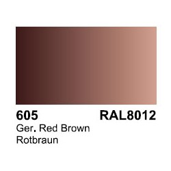 Surface Primer, Imprimacion Rotbrau RAL 8012. Bote 17 ml. Marca Vallejo. Ref: 70.605.