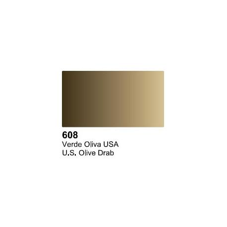 Surface Primer, Imprimacion Verde Oliva USA. Bote 17 ml. Marca Vallejo. Ref: 70.608.