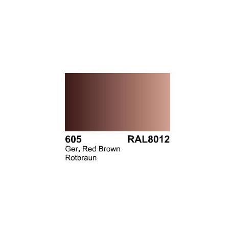 Surface Primer, Imprimacion Rotbrau RAL 8012. Bote 60 ml. Marca Vallejo. Ref: 73.605.