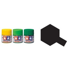 Gloss Black, Negro brillo (81501). Bote 10 ml. Marca Tamiya. Ref: X-1.