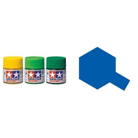 Gloss Blue, Azul Brillo (81504). Bote 10 ml. Marca Tamiya. Ref: X-4.