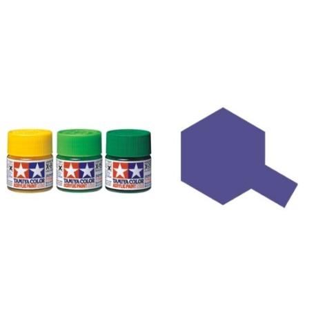 Gloss Purple, Purpura Brillo (81516). Bote 10 ml. Marca Tamiya. Ref: X-16.