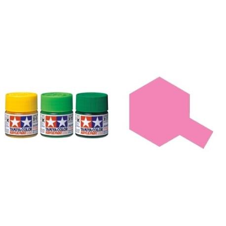 Gloss Pink, Rosa Brillo (81517). Bote 10 ml. Marca Tamiya. Ref: X-17.