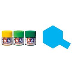 Gloss Clear Blue, Azul Translucido Brillo (81523). Bote 10 ml. Marca Tamiya. Ref: X-23.