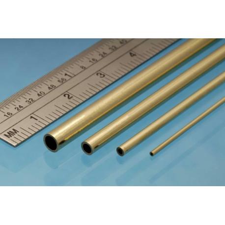 Tubo redondo de Latón 3.00 x 0.45 mm, 4 unidades. Marca Albion Alloys. Ref: BT4M.