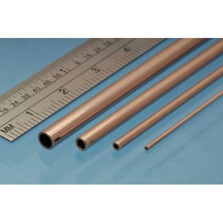 Tubo redondo de Cobre 1.00 x 0.25 mm, 4 unidades. Marca Albion Alloys. Ref: CT1M.