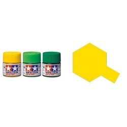 Flat Yellow, Amarillo Mate (81703). Bote 10 ml. Marca Tamiya. Ref: XF-3.