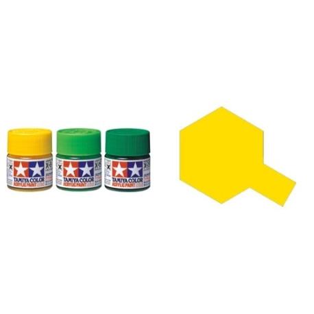 Flat Yellow, Amarillo Mate (81703). Bote 10 ml. Marca Tamiya. Ref: XF-3.