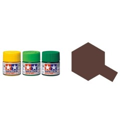 Flat Brown, marron Mate (81710). Bote 10 ml. Marca Tamiya. Ref: XF-10.