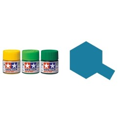 Flat  Medium Blue, Azul Medio Mate (81718). Bote 10 ml. Marca Tamiya. Ref: XF-18.