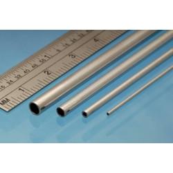 Tubo redondo de Aluminio 1.00 x 0.25 mm, 4 unidades. Marca Albion Alloys. Ref: AT1M.