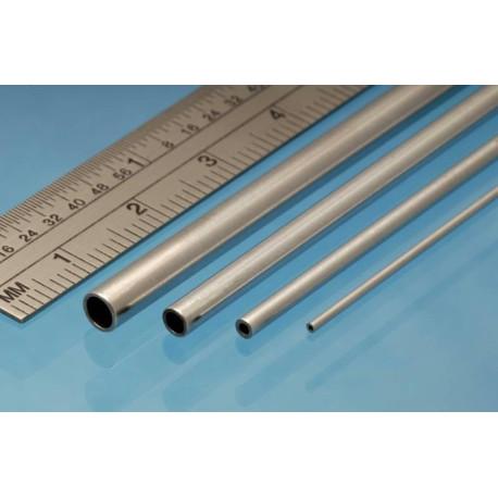 Tubo redondo de Aluminio 5.00 x 0.45 mm, 3 unidades. Marca Albion Alloys. Ref: AT5M.