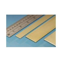 Planchas de Latón 100 x 250 mm, 0.12 mm, 2 unidades. Marca Albion Alloys. Ref: SM1M.