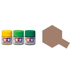 Flat Dark Copper, Cobre Oscuro  Mate (81728). Bote 10 ml. Marca Tamiya. Ref: XF-28.