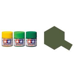 Flat Olive Drab, Verde Oliva Apagado  Mate (81762). Bote 10 ml. Marca Tamiya. Ref: XF-62.