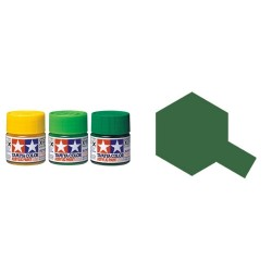 Flat Dark Green (JGSDF), verde Oscuro Ejercito Japones Moderno Mate (81773). Bote 10 ml. Marca Tamiya. Ref: XF-73.