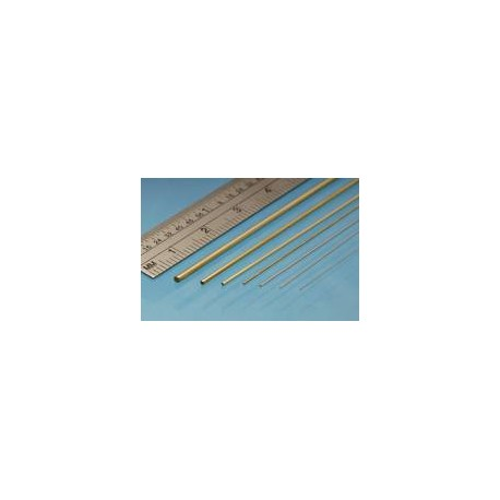 Tubo redondo de Nikel-Plata 0.6 x 0.4 mm, 2 unidades. Marca Albion Alloys. Ref: NST06.