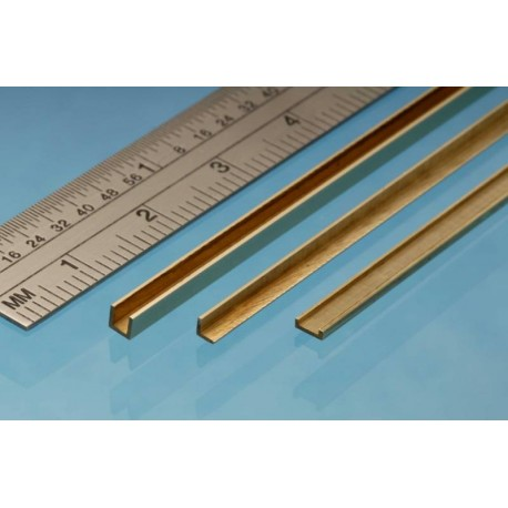 "Perfil en "" L "" de Latón 1.00 x 1.00 mm, 1 unidad. Marca Albion Alloys. Ref: A1."
