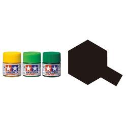 Flat Rubber Black, Negro Neumatico Mate (81785). Bote 10 ml. Marca Tamiya. Ref: XF-85.