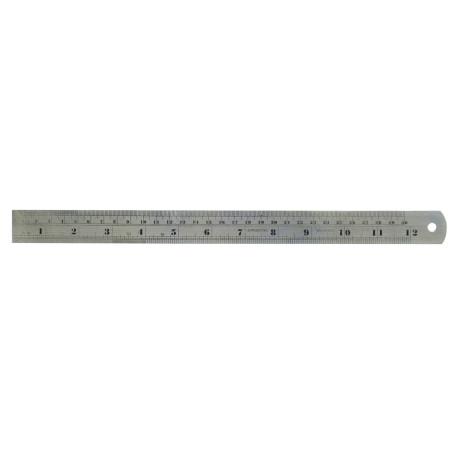 Regla de Precision Metalica (300 mm). Marca Dismoer. Ref: 20035.