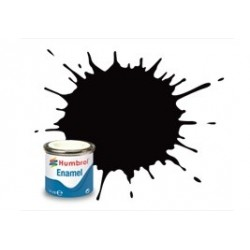 Carbón Negro Satinado  ( 85 ). Bote 14 ml. Marca Humbrol. Ref: AA0936.