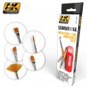 Survival weathering Brushes Set. Marca AK-lnteractive. Ref: AK663.