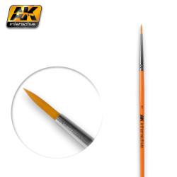 Pincel Redondo 1 Sintético. Marca AK-lnteractive. Ref: AK603.